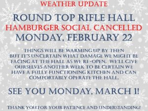 Burger NIght Cancelled